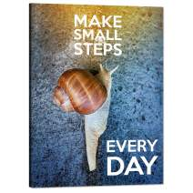 "Inspirational Wall Art Make Small Steps Every Day Pictures Motivational Painting Prints on Canvas Modern Inspiring Quote with Words Posters Artwork Decorations for Office Classroom Home (18""Wx24""H)"