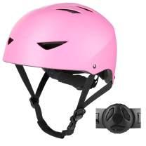 WayEee Skateboard Bike Helmet - Adjustable Cycling Helmet for Kids Children Boys Girls Youth, Safety Scooter BMX Roller Skating Inline Skating Rollerblading Helmets
