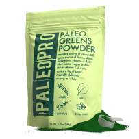 PaleoPro Paleo Greens Powder, Plant-Based Vegan Protein Powder, Vitamin B12, Keto Ingredients, Gluten-Free, Good Source of Fiber, Calcium, Magnesium, Vitamins A & C, Vitamin K & Iron, No Sugar, 9.4oz