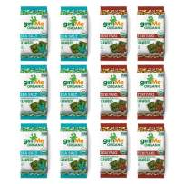 gimMe Organic Roasted Seaweed - Sea Salt & Teriyaki Variety Pack - 12 Count - Keto, Vegan, Gluten Free - Great Source of Iodine and Omega 3's - Healthy On-The-Go Snack for Kids & Adults