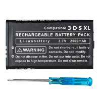 OSTENT 2500mAh 3.7V Rechargeable Lithium-ion Battery + Tool Kit Pack Compatible for Nintendo 3DS LL/XL