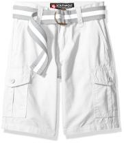 Southpole Boys' Belted Ripstop Basic Cargo Shorts