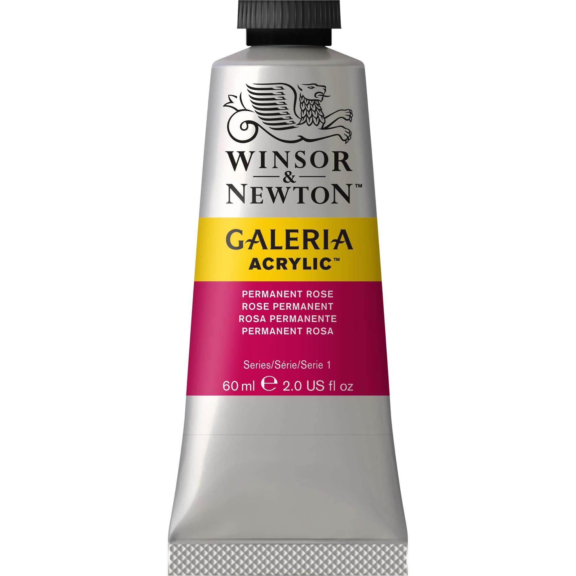 Winsor & Newton Galeria Acrylic Paint, 60ml Tube, Permanent Rose