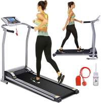 Electric Folding Treadmill for Home with LCD Monitor,Pulse Grip and Safe Key Fitness Motorized Running Jogging Walking Exercise Machine Space Saving for Home Gym Office Easy Assembly