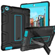 iPad 2 Case, iPad 3 Case, iPad 4 Case GUAGUA Kickstand 3 in 1 Hybrid Heavy Duty High Impact Resistant Rugged Shockproof Protective Armor Anti-Scratch Tablet Case for iPad 2/3/4th Gen Black/Blue
