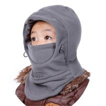 Azarxis Kids Children's Balaclava Hat Fleece Ski Face Mask Winter Cap Adjustable Double Neck Warmer