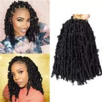 12 Inch Bob Butterfly Locs Crochet Hair 6 Packs Butterfly Locs Hair 1B Natural Color Crochet Butterfly Locs Short Hair for Black Women
