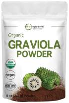 Micro Ingredients Organic Graviola Powder, 8 Ounce, Soursop Supplement for Healthy Skin & Helps Promotes Cell Growth, Non-GMO and Vegan Friendly