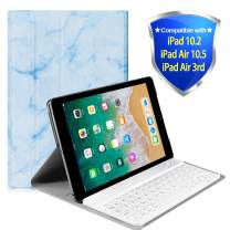 """Lapogy iPad 7th Generation Case with Keyboard for iPad 10.2 2019 Keyboard Case 2 in 1 Keyboard Case Magnetic Detachable Wireless Keyboard Cover for iPad 10.2"""",Blue"""