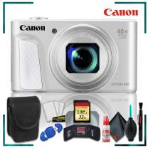 Canon PowerShot SX730 HS Digital Camera (Silver) + 32gb Memory SD Card Bundle + Camera Case + Cleaning Kit