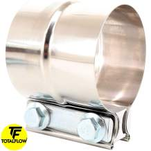 """TOTALFLOW 3"""" TF-J60 304 Stainless Steel Lap Joint Exhaust Muffler Clamp Band-3 Inch"""