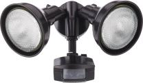 Lithonia Lighting OMS 2000 PR2 120 DDB M4 Dark Bronze 2 Head Flood Light with 1 Direction Motion Sensor, Higher Wattage
