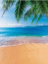Dudaacvt 5x7ftTropical Beach Photography Backdrops Sea & Blue Sky & Coconut Tree Vinyl Photo Backgrounds Customized Studio Props Q006