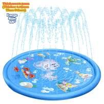 "NAKAWU Splash Pad, 68"" Large Water Splash Pad for Kids, Summer Sprinkler Splash Pad, Splash Sprinkler Pad Outdoor Water Toys, Blue Sprinker Pad"