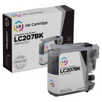LD Compatible Ink Cartridge Replacement for Brother LC207BK Super High Yield (Black)