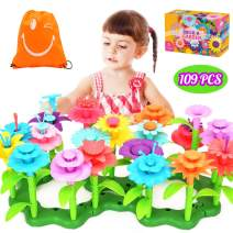 YITOOK Flower Garden Building Toys, Kids Gardening Stacking Set STEM Educational Arts and Crafts Playset for 3 4 5 6 Year Olds Girls (109 PCS)