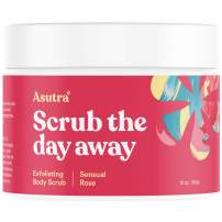 ASUTRA Dead Sea Salt Body Scrub Exfoliator (Sensual Rose), 12 oz | Ultra Hydrating, Gentle, Moisturizing | All Natural & Organic Jojoba, Sweet Almond, Argan Oils