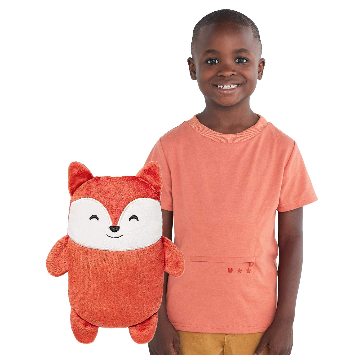 Cubcoats Flynn The Fox 2-in-1 Transforming Tee T-Shirt and Soft Plushie