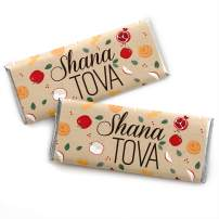 Rosh Hashanah - Candy Bar Wrapper Jewish New Year Favors - Set of 24