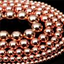 """Oameusa Natural Round Smooth 12mm Rose Hematite Without Magnetic Agate Beads Gemstone Loose Beads Agate Beads for Jewelry Making 15"""" 1 Strand per Bag-Wholesale"""