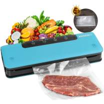 Vacuum Sealer Machine, ASSENIO Food Sealers Vacuum Packing Machine with Dry & Moist Modes, Compact & Easy Clean,Bags (FDA-Certified)
