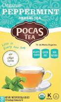 Pocas Organic Tea, Peppermint, 1.06 Ounce, 20 Count (Pack of 6)