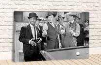DOLUDO Black and White Canvas Poster The Rat Pack Pool Party Wall Art for Living Room Bedroom Decor Gifts Artwork No Frame 12x20inch