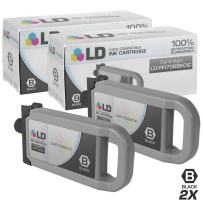 LD Compatible Ink Cartridge Replacement for Canon PFI-706BK (Black, 2-Pack)