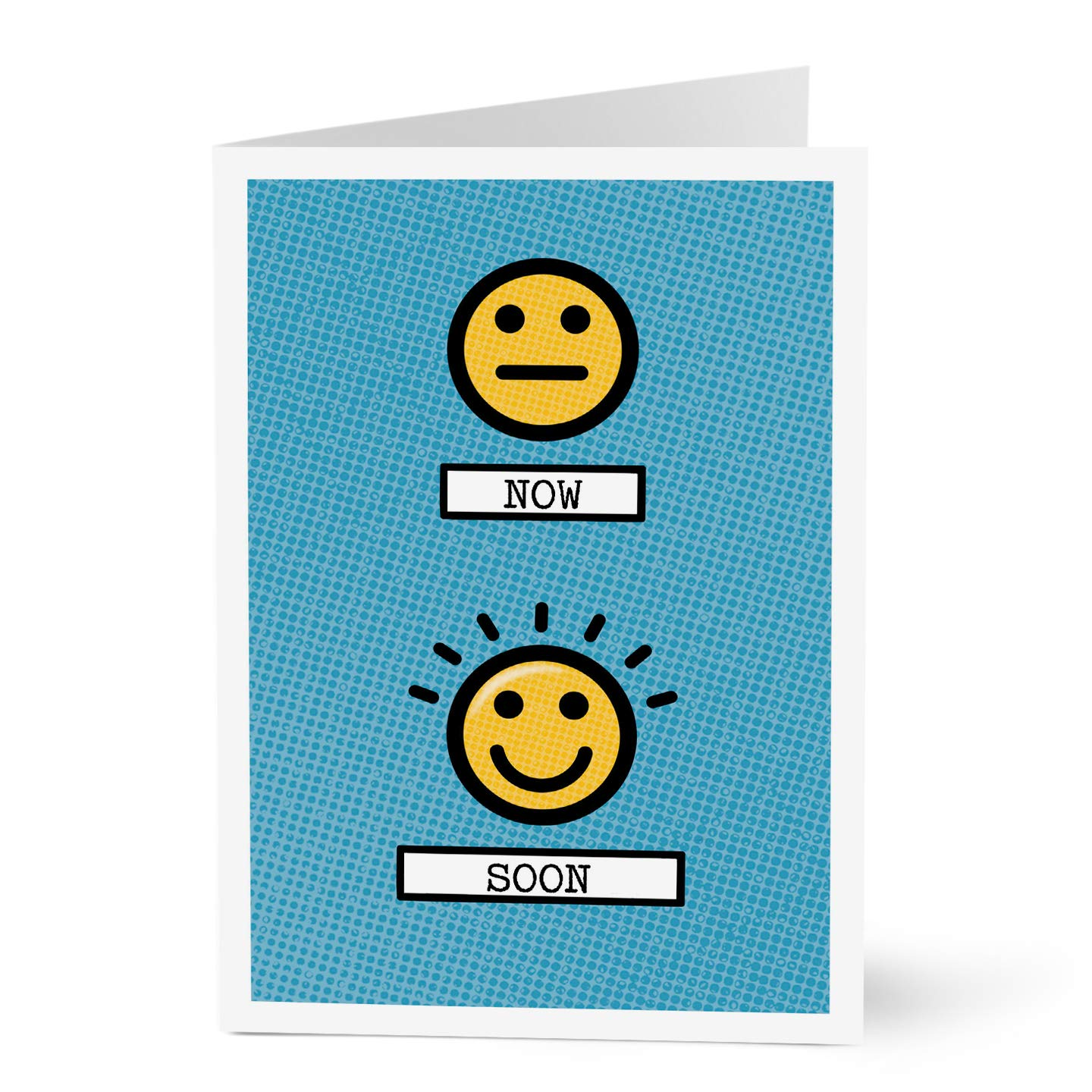 Hallmark Encouragement Card for Employees and Customers (Emoji Encouragement) (Pack of 25 Greeting Cards)