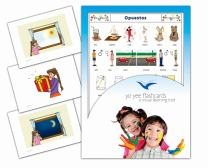 Tarjetas de vocabulario - Opuestos - Spanish Opposites Flash Cards for Babies 1-2, Toddlers 2-4, Kids, Children and Adults