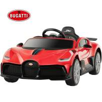 Uenjoy 12V Licensed Bugatti Divo Kids Ride On Car Electric Cars Motorized Vehicles for Kids, with Remote Control, Music, Horn, Spring Suspension, Safety Lock, Red