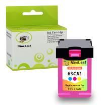 NineLeaf 1 Pack 63 XL Remanufactured Color Ink Cartridges Compatible fro Envy 4520 4512 4516 Officejet 3830 3833 4655 Deskjet 1112 2130 3630 3633 3634