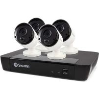 Swann Home Security PoE Camera System, 5MP HD, 8 Channel 4 Bullet Cameras, Indoor/Outdoor Wired Surveillance CCTV NVR, Color Night Vision, 2-Way Audio, with 2TB Hard Drive, SWNVK-875804