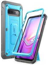 SUPCASE Unicorn Beetle Pro Series Designed for Samsung Galaxy S10 Case (2019 Release) Full-Body Dual Layer Rugged with Holster & Kickstand Without Built-in Screen Protector (Blue)