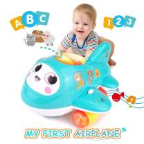 KidPal Toys for Crawling Babies, My First Plane Baby Toy for 1 2+ Year Old Boy & Girl with Music and Light, Moving Toys Encorage to Crawling, Kids Toys for Age 12 16 18M+