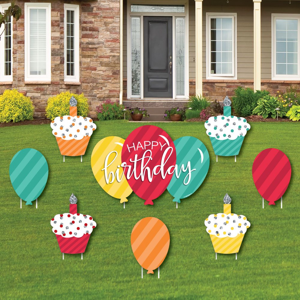 Outdoor Birthday Party Yard Decorations Lawn Decorations Chic 30th 10 Piece Set 30th Birthday Birthday Party Lawn Ornaments