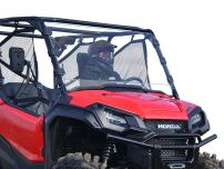SuperATV Heavy Duty Full Windshield for 2016+ Honda Pioneer 1000/1000-5 | Clear Non-Scratch Resistant | Installs In 5 Minutes!