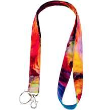 Celokiy Flaming Cloud Lanyard for Teacher,Keys,ID Badge Holder - Colourful Fabric Lanyards for Women,Teen Girls,Student - Neck Strap Keychain