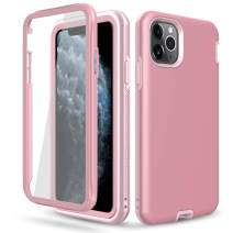 DONWELL Compatible iPhone 11 Pro Max Case Hybrid Full Body Case with Built-in Screen Protector Shockproof Case Cover Compatible with iPhone 11 Pro Max/iPhone XI Max 6.5 inch 2019 (Rose Gold)