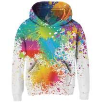 RAISEVERN Kids Fleece Hoodie Casual Funny Child Hooded Sweatshirts Cute Pullover Hoody for Boys Girls(3-14 Years)