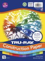 Tru-Ray Color Wheel Assortment, 12 x 18 Inches, Assorted Colors, Pack of 72 (P6577)