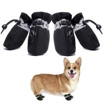 Dog Boots Anti-Slip Shoes Winter Paw Protector for Small Medium Dogs and Puppies 4PCS