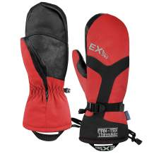 EXski -22℉ (-30℃) Waterproof Winter Gloves Warm 3M Thinsulate Ski Mittens for Cold Weather Snowboard Snowmobile