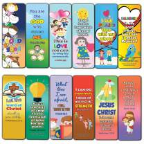Short Bible Verses for Kids Bookmarks (12-Pack) - Compilation of Helpful and Easy to Learn Memory Verses and Inspiring Messages for Kids