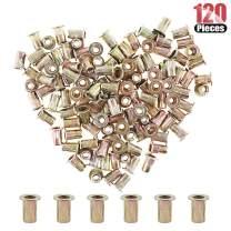 Hilitchi 120 Pcs #8-32 UNC Rivet Nuts Threaded Insert Nut (#8-32 UNC Rivnut)