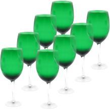 Certified International White Wine Stemware Glass (Set of 8), 20 oz, Green