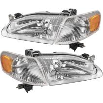 AUTOSAVER88 Headlight Assembly Compatible with 1998-2000 Toyota Corolla +Front Signal Lights (Driver and Passenger Side)