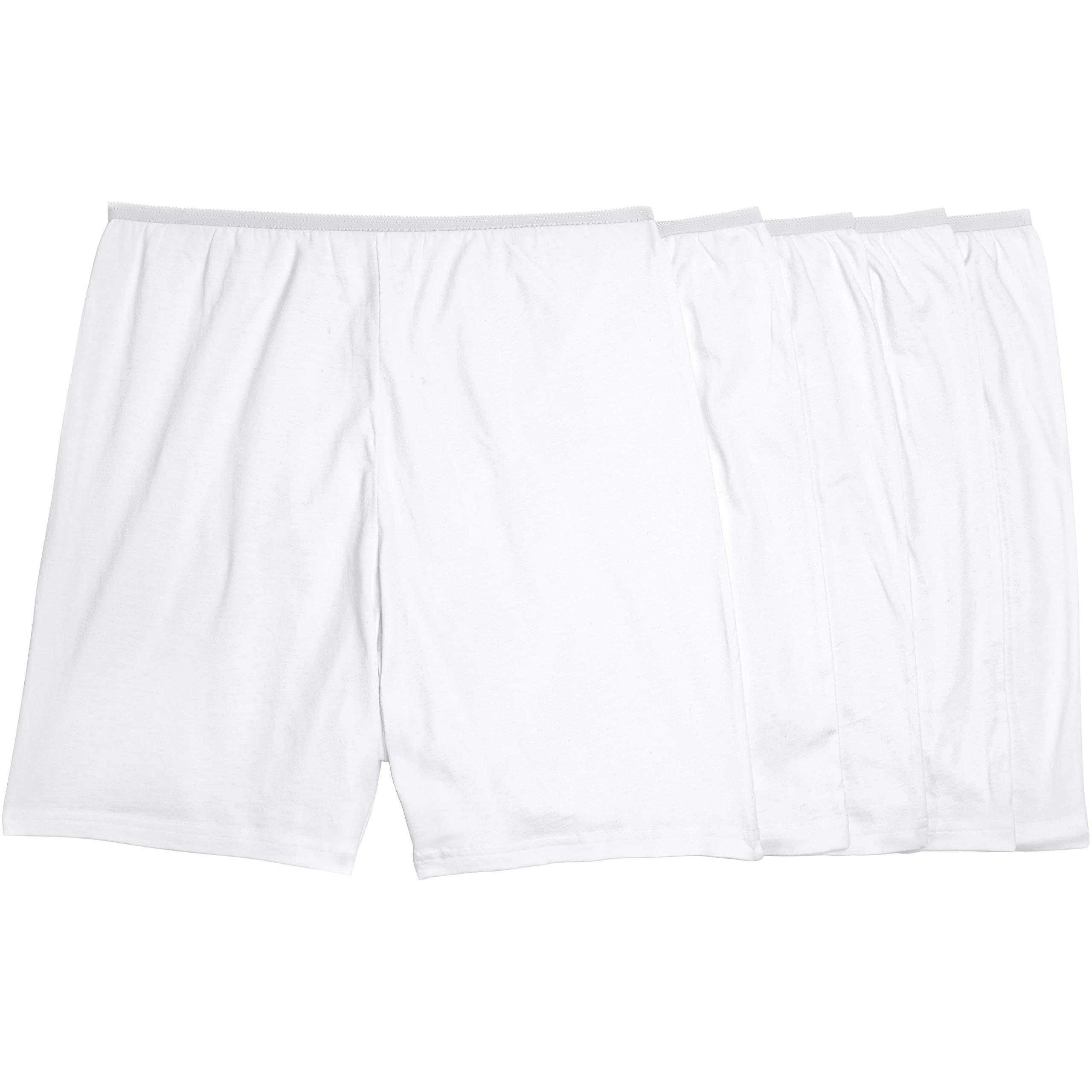 Comfort Choice Women's Plus Size 5-Pack Cotton Boxer