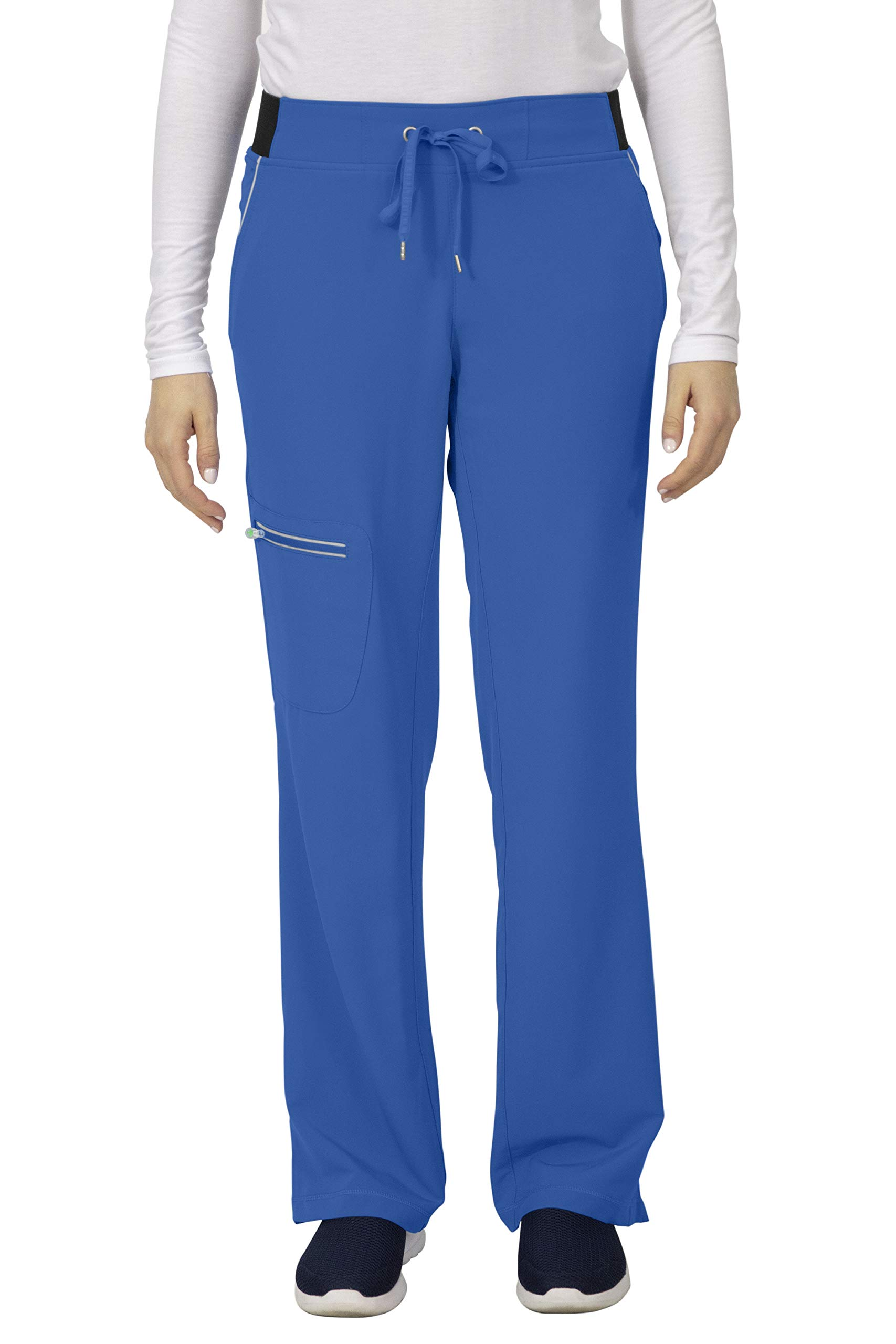 healing hands HH360 Women's Nisha 9151 Yoga Waist Scrub Pant- Royal Blue- X-Small Tall