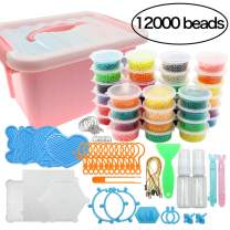 Beads Toy Water Fuse Beads Kit 12000 Pieces Magic Water Sticky Beads 36 Colors Water Spray Beads Set Compatible with Art Crafts Toys